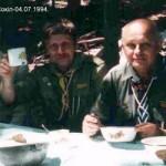 Сокіл, 1997. Зліва: пл.сен Степан Павлишин, ЦМ, пл.сен. Віталій Окуневський, ЦМ, пл.сен. Орест Гаврилюк, ЧМ