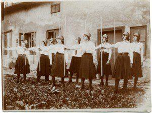 Пластове свято у сестер Василіанок, Львів, 1922
