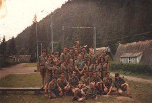 Перший після віднови у 1990 р. пластовий табір, Рожанка, біля Славсько