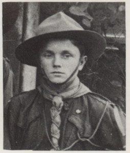 Василь Білас у пластовому однострої, 1930