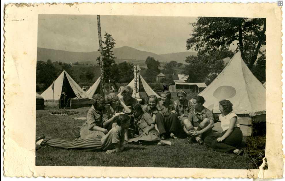Пластовий табір в с. Солочин, 1934. З архіву Михайла Шваба