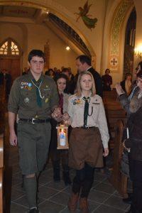 Передача Вифлеємського Вогню Миру 2014, Латвія