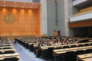 Пластуни на екскурсії в ООН, Женева, Швейцарія, 2015