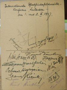 Листівка з Байден-Павелом, Франція, 1947