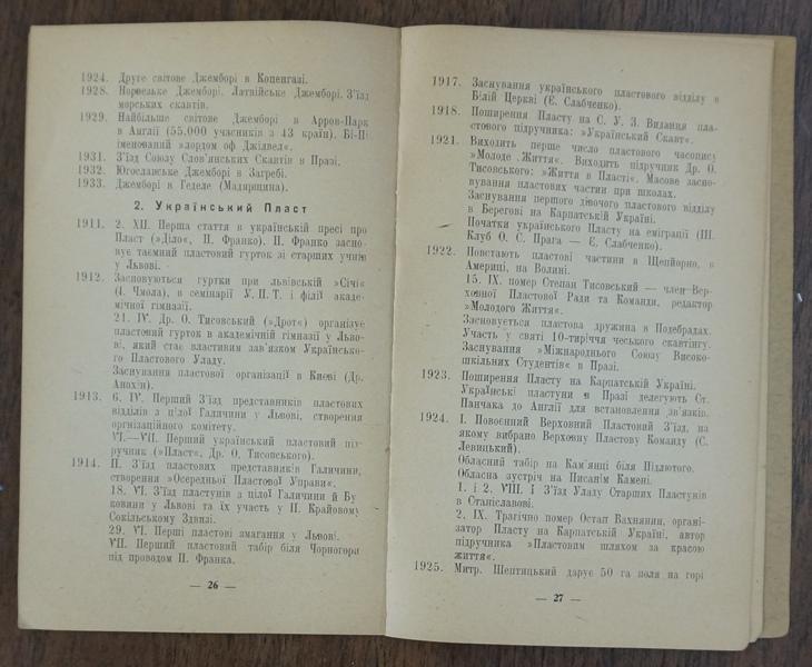 Пластовий календарець, 1946