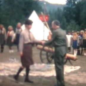 Кадр з відео святкування 80-ліття О. Тисовського