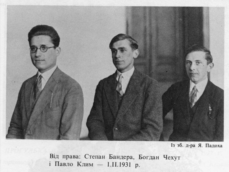 Павло Клим, Богдан Чехут, Степан Бандера, 1931
