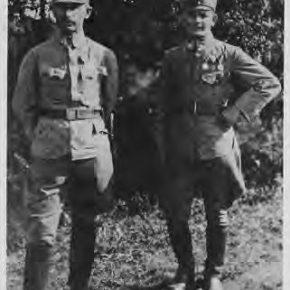 Останній командир Легіону УСС, тоді сотник, потім - генерал Осип Микитка і його ад'ютант хор. Петро Постолюк