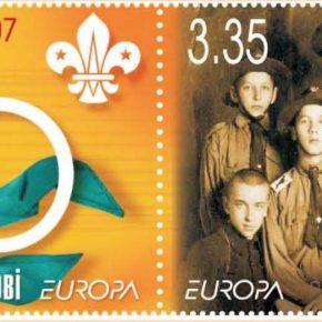 Державна українська марка, присвячена 100-літтю скавтінґу, 2007