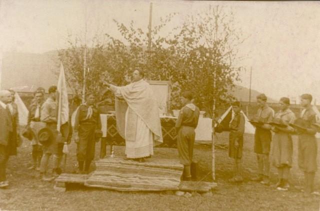 Посвячення пластового прапору в Хусті