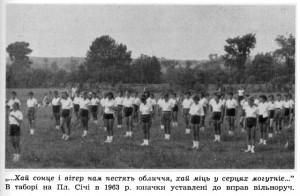 У таборі на Пластовій Січі, 1963