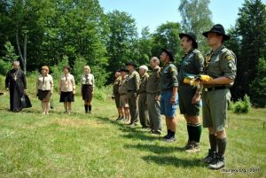Під час відкриття ювілейно збірки на Соколі, 9 липня 2011 р.