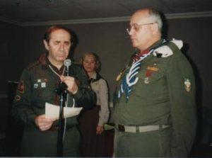 Начальний Пластун пл.сен. Любомир Романків, СМ та пл.сен. Орест Гаврилюк, ЧМ