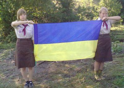 Найкращі хорунжі табору Аліна Рисенко і Настя Апанасова