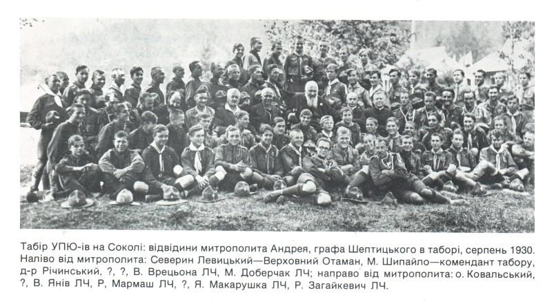 Табір УПЮ на Соколі, 1930