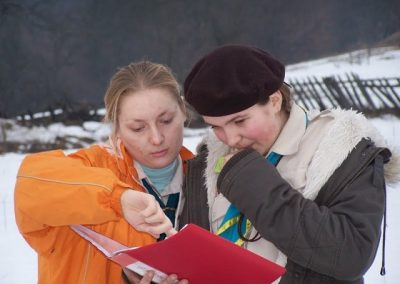 Оксана і виховниця Софійка