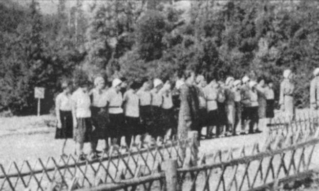 Перший табір юначок на Соколі після розв`язання Пласту, 1931