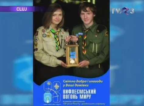 Румунське телебачення про акцію Вифлеємьского Вогню Миру 2011