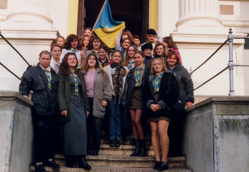 Після посвяти знамена куреня ч. 38, Ужгородський кафедральний собор