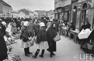 Базар в центрі Ужгорода, 1939
