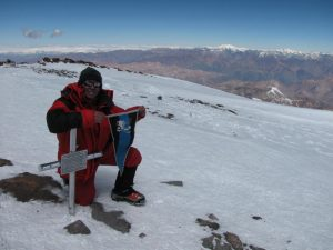 Ігор Карабін на вершині г. Аконкагуа (6962 м)