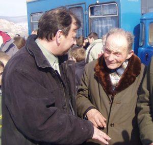 Письменник та видавець Іван Ребрик та Іван Мирон на Красному Полі