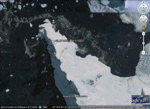 Фото з Google Earth за координатами, що їх подав Ігор