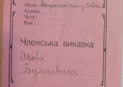 Титул заповненої виказки Булаєвича
