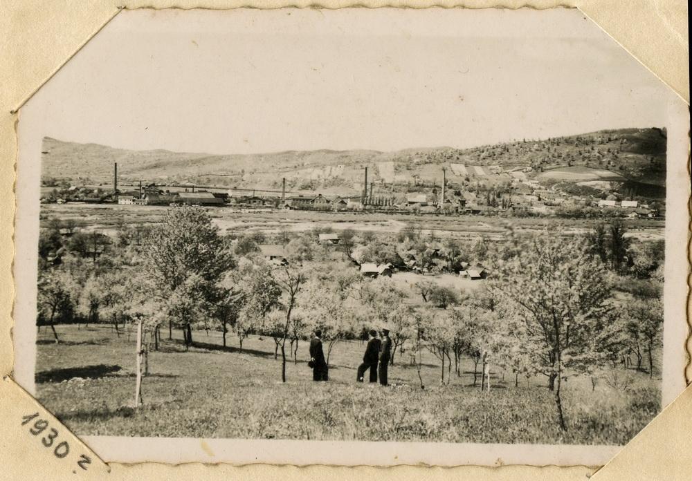Виднокрай Великого Бичкова, вдалині хімічний деревообробний завод. 1930 рік.