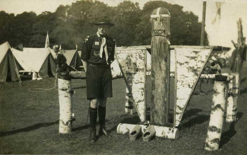 Тотем фінських скаутів під час Джемборі-1929