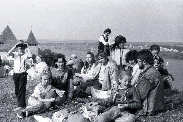 Частина тернопільських пластунів в Хотинській фортеці