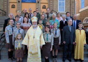 Єпископ Борис Ґудзяк з канадськими пластунами