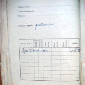Картки з реєстром учасників табору на Соколі, учасником якого був бл. свмч. Олексій Зарицький