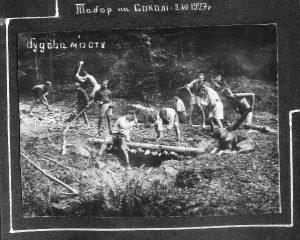 Будова мосту на Соколі, 5 липня 1927 р.