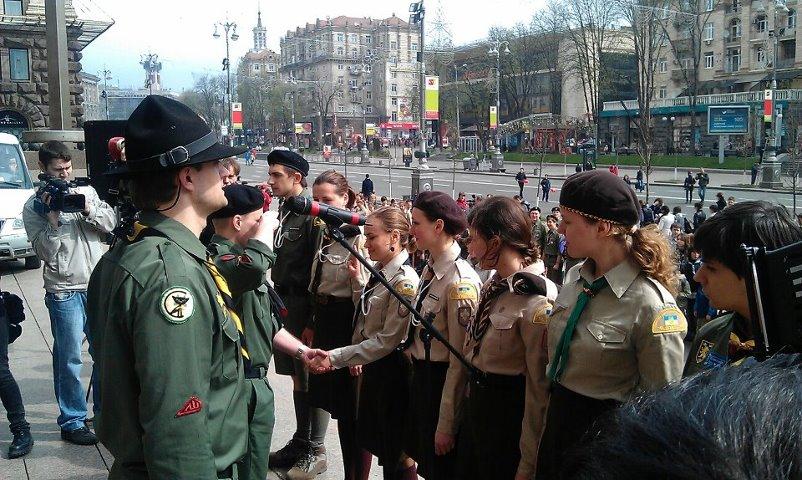 Під час святкування 100-ліття Пласту, квітень 2012 р.