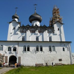 Преображенський собор, спалений на початку 1920-х першими представниками «советской власти» на острові.