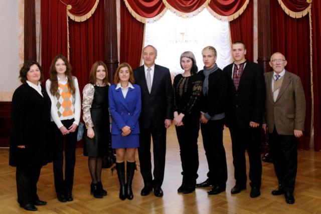 Українці з Єкабпілсу, Єлгави та Риги з Президентом Латвії