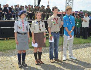 Українська делегація на джемборі в Польщі
