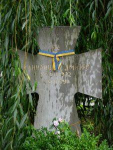 Могила Дмитра Данилишина на Янівському цвинтарі. Сучасний вигляд