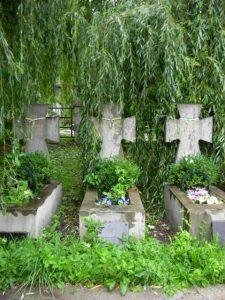 Могили пластунів Ілярія Кука, Дмитра Данилишина і Василя Біласа на Янівському цвинтарі у Львові