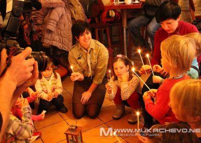 Вифлеємський Вогонь Миру в Ужгороді