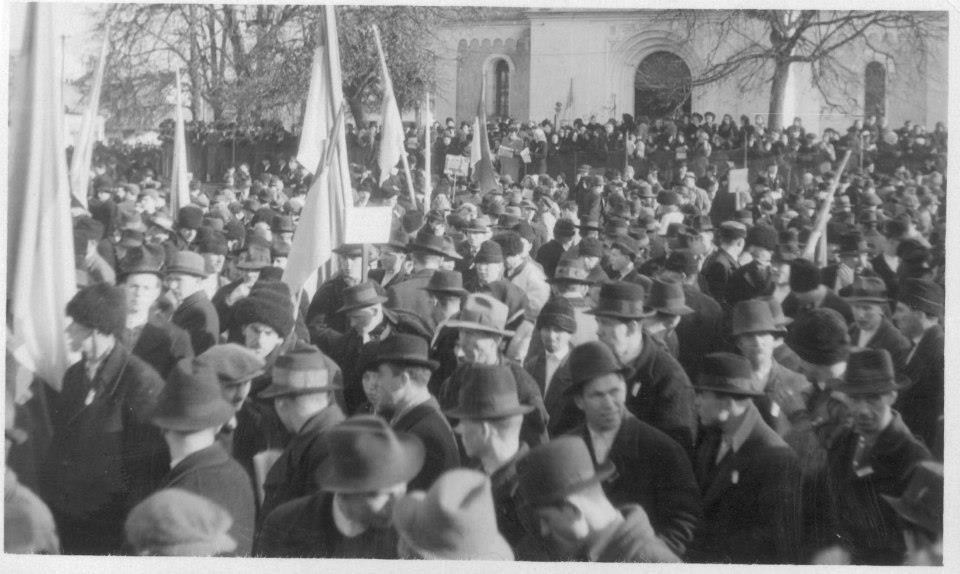 Святковий мітинг на День Злуки. Хуст, 22 січня 1939 року