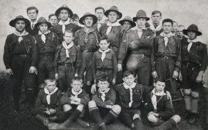 Пластуни чоловічого куреня в Тисмениці. Кінець 1920-х