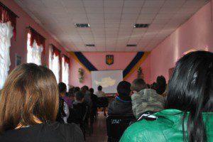 Перегляд в школі №1, смт. Великий Бичків