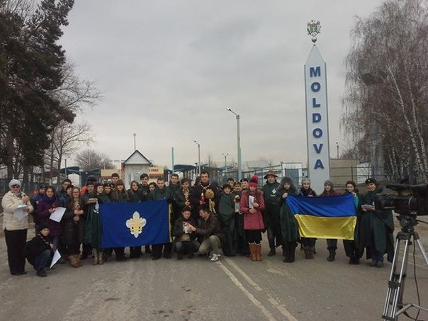 Передача Вифлеємського Вогню скаутам Молдови