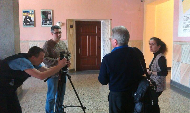 Під час зйомок Історичної Правди з Вахтангом Кіпіані