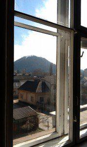 Вид на замкову гору в Хусті