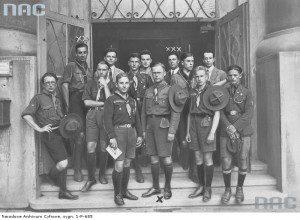 Французькі та естонські скаути у Кракові, липень 1929-го