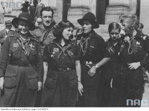 Скаутки з Данії після візиту до сілезського воєводи. Катовіце, 22.07.1935