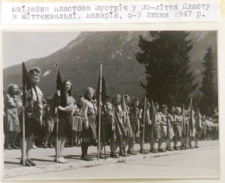 Відкриття, Ювілейна Пластова Зустріч, 35-ліття Пласту, Міттенвальд, Баварія, 5-7 липня 1947